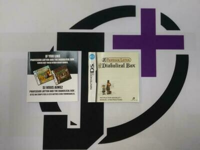 NDS PROFESSOR LAYTON AND THE DIABOLICAL BOX INSTRUCTION BOOKLET BILINGUAL (usagé)