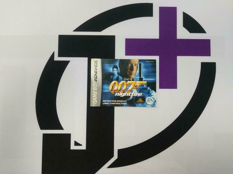 GBA 007 NIGHTFIRE INSTRUCTION BOOKLET BILINGUAL