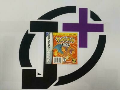 GBA POKEMON FIRE RED INSTRUCTION BOOKLET BILINGUAL (usagé)