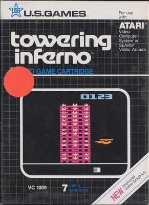 ATARI 2600 TOWERING INFERNO (COMPLETE IN BOX) (usagé)