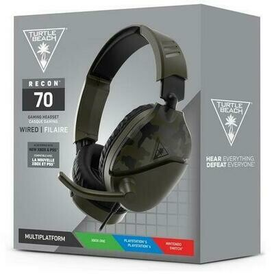 HEADSET TURTLE BEACH EAR FORCE RECON 70 GREEN CAMO FOR PS5 / PS4 / XSX / XONE / SWITCH