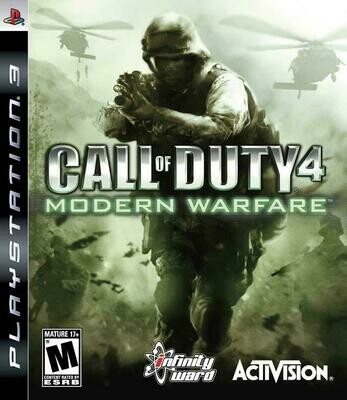 CALL OF DUTY 4 MODERN WARFARE (COMPLETE IN BOX) (usagé)