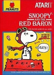 ATARI 2600 SNOOPY AND THE RED BARON (usagé)