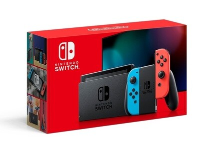 NINTENDO SWITCH MODEL 2 RED & BLUE (COMPLETE IN BOX) (usagé)