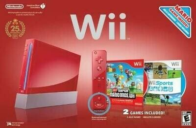 WII MODEL 1 RED (WITH BOX) (usagé)