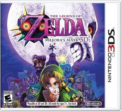 3DS THE LEGEND OF ZELDA MAJORA'S MASK 3D (BOX ONLY) (usagé)