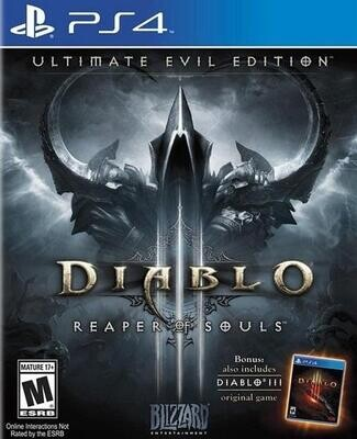 PS4 DIABLO III ULTIMATE EVIL EDITION REAPER OF SOULS (BOX ONLY) (usagé)