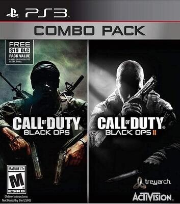 PS3 CALL OF DUTY BLACK OPS I AND II COMBO PACK (BOX ONLY) (usagé)