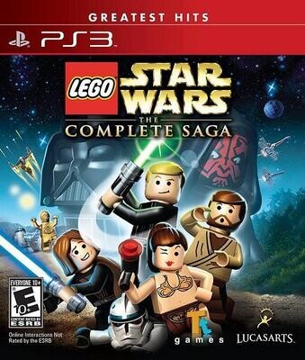 PS3 LEGO STAR WARS THE COMPLETE SAGA (BOX ONLY) (usagé)