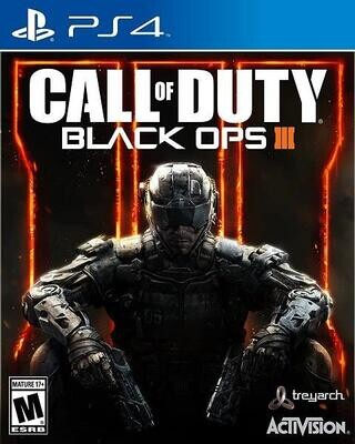 PS4 CALL OF DUTY BLACK OPS III (BOX ONLY) (usagé)