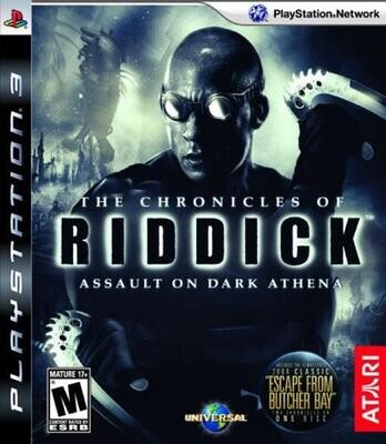PS3 THE CHRONICLES OF RIDDICK ASSAULT ON DARK ATHENA (BOX ONLY) (usagé)