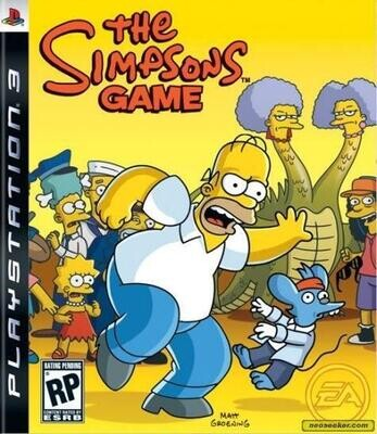 PS3 THE SIMPSONS GAME (BOX ONLY) (usagé)