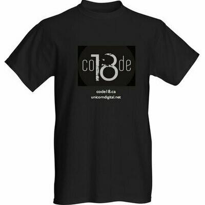 T-Shirt -  Black - Men - New Code 18 logo