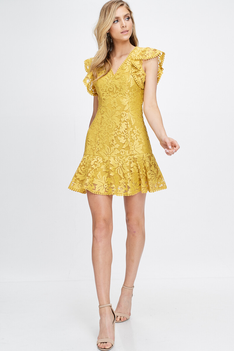 Yellow Party Mini Dress