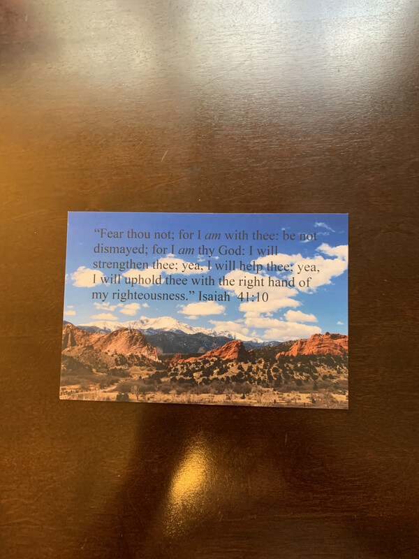 Author's  Bible Verse Postcard