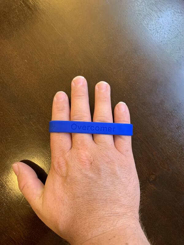 Overcomer Rubber Wrist Band
