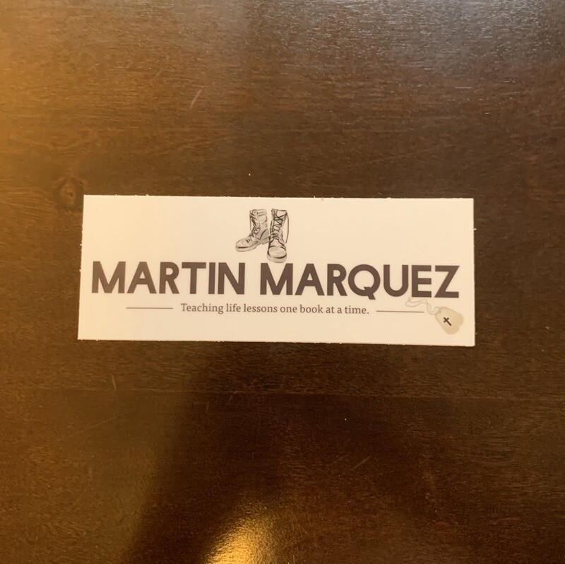 Martin Marquez Author Logo Sticker