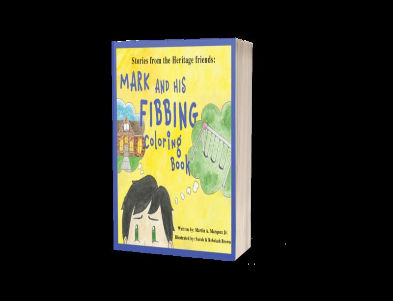 Mark and His Fibbing Coloring Book