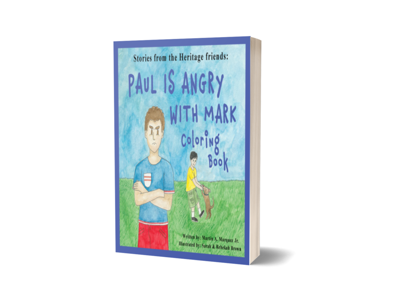Paul Is Angry With Mark Coloring Book