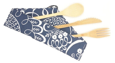 Kit cubiertos de bambú