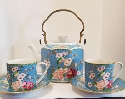 #1-1014 Vtg. Cloisonne Tea Set