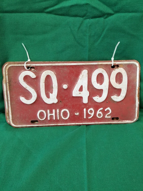 Vtg. Ohio License Plate Set  #1-900