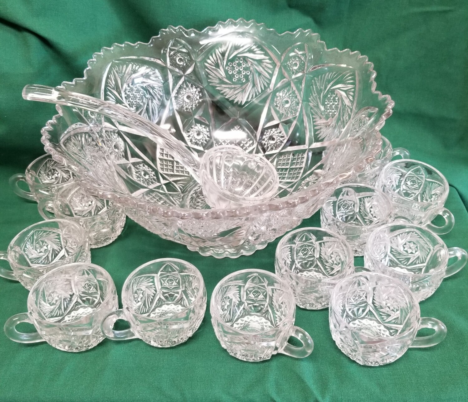 Punch Bowl Set, 14 Pc Imperial Glass,