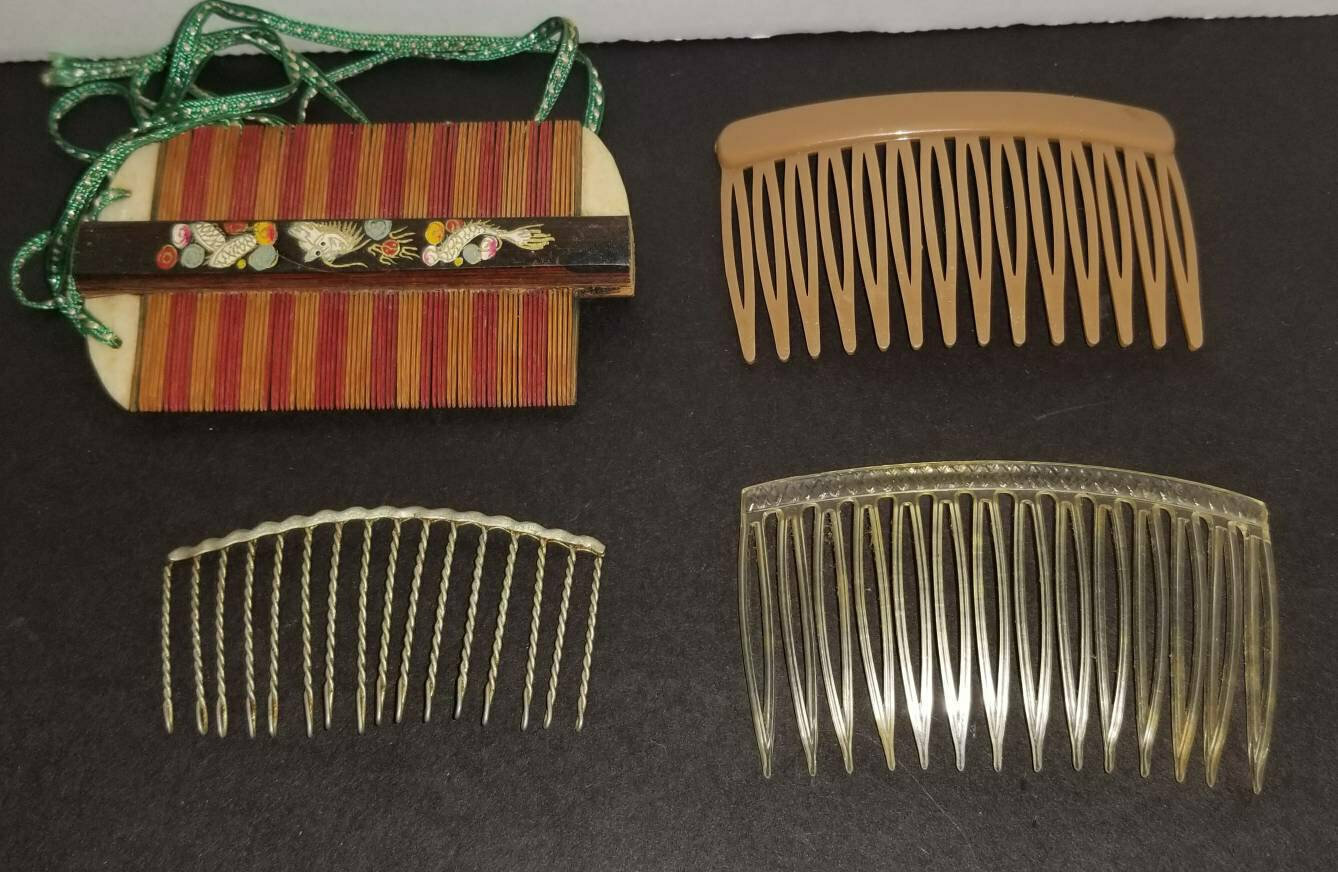 Hair Pin, Scrimshaw Combs