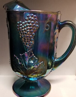 """Indiana Glass Blue Carnival Water """"Pitcher"""