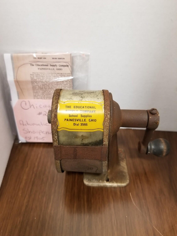 #1-1195 Antique Pencil Sharpener, Chicago #2