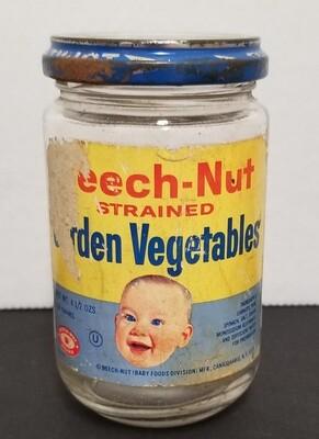 #1-1198 Vintage Glass Beech-Nut  Baby Food Jar - label & lid