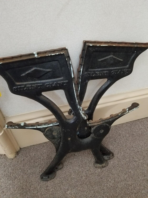 Antique Cast Iron School Desk Legs #1-269