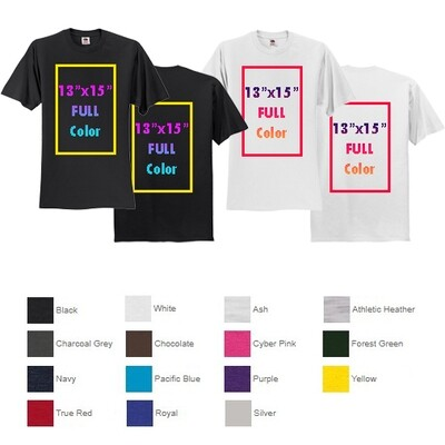 Fruit of the Loom® HD Cotton™ 100% Cotton T-Shirt with Full Color Printing - Both Sides