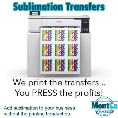 Sublimation Transfer Prints