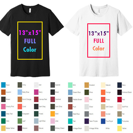 BELLA+CANVAS ® Unisex Jersey Short Sleeve Tee with Full Color Printing - One Side