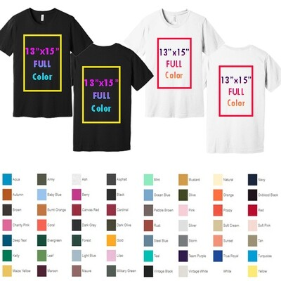 BELLA+CANVAS ® Unisex Jersey Short Sleeve Tee with Full Color Printing - Both Sides