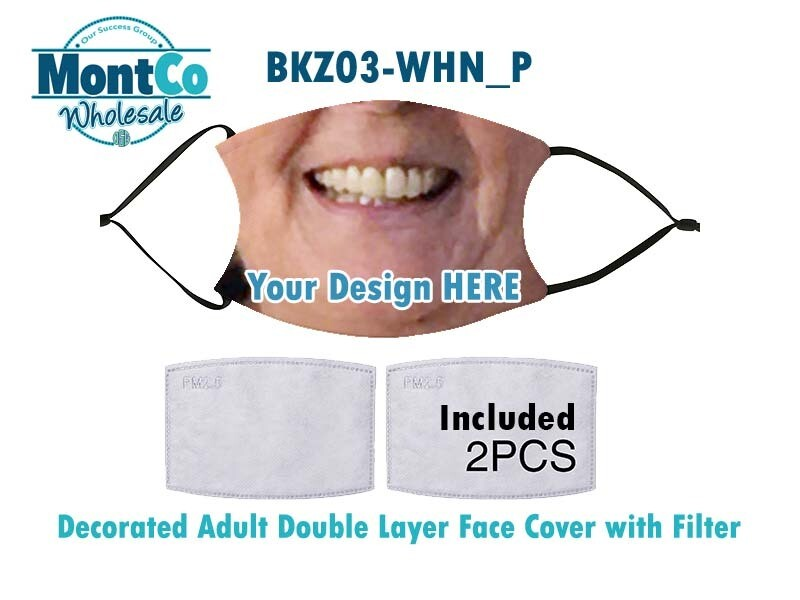 Decorated Adult Double Layer Face Covers with Filters