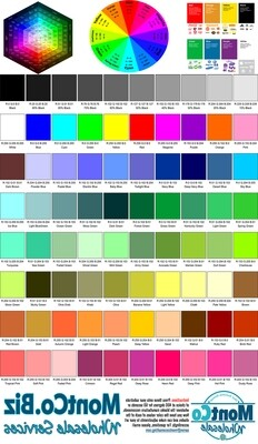 Color Chart Sample Pack - 3 Sheets