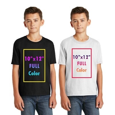 Fruit of the Loom® Youth HD Cotton™ 100% Cotton T-Shirt with Full Color Printing - Single Sides