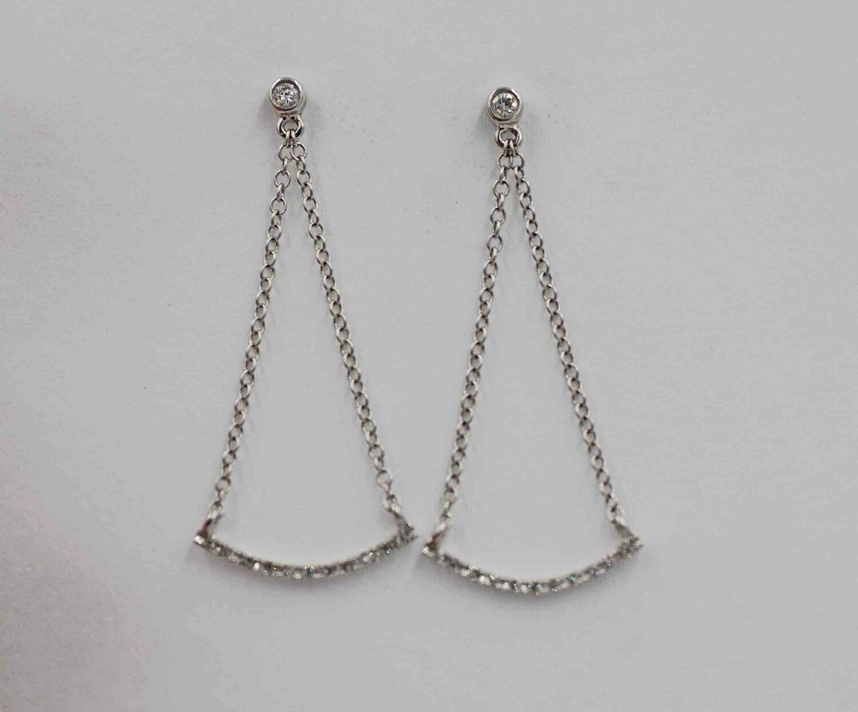14k wg.15cttw dia. dangle earrings