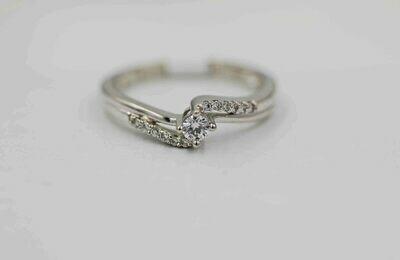 14k wg .20 tcw diamond bypass ring