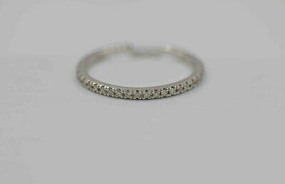 14k wg .25 cttw diamond band