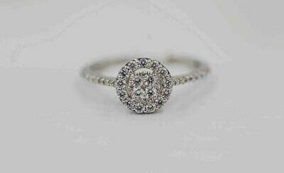 14kw Halo Diamond Cluster ring