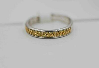 14wg band set w/ .16cttw yellow diamonds