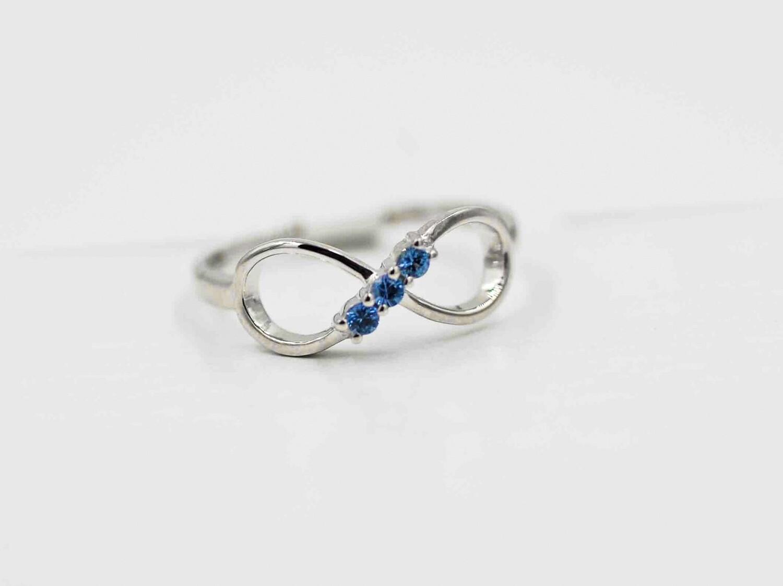 3 Yogo infinity ring .925