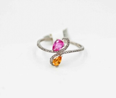 wg ps yellow & pink saph/dia ring