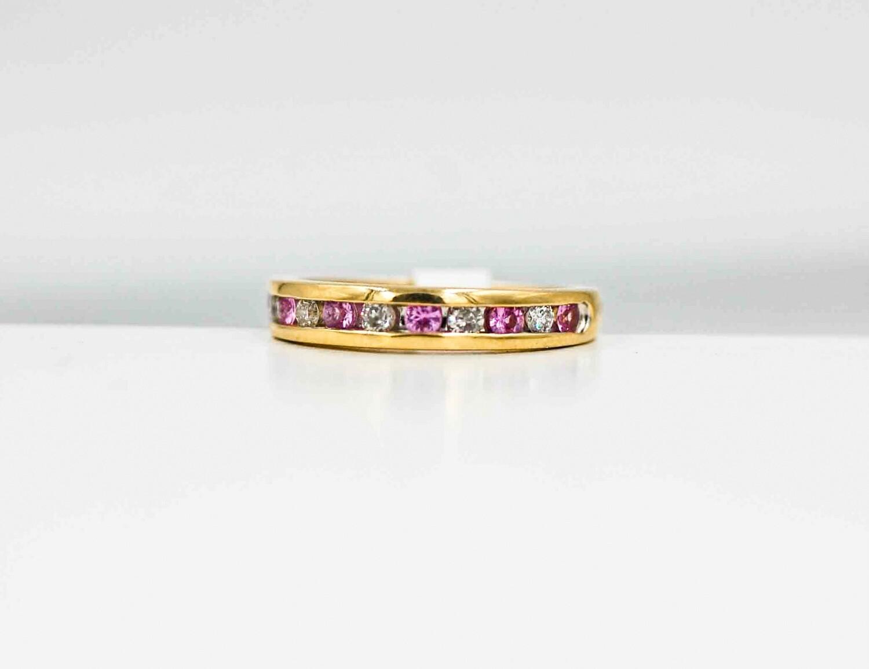 yg dia/pink sap ring