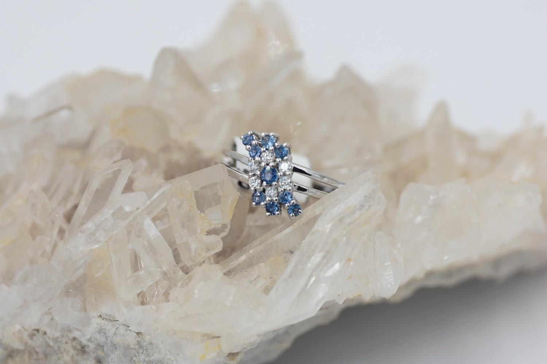 14kw Yogo/dia cluster split shank ring