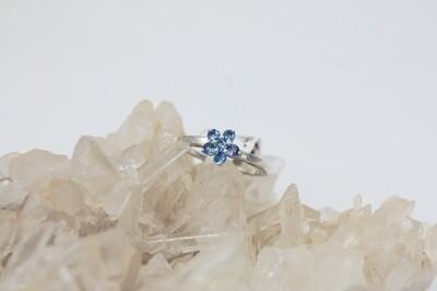 .46cttw Yogo flower cluster ring .925