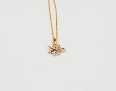 """18k yg .12cttw diamond """"splash"""" pendant"""